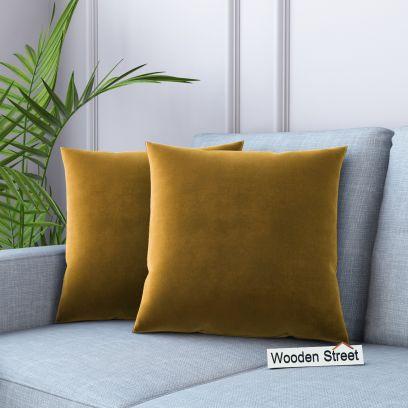 Cupid Velvet Cushion Covers - Set of 2 (Chestnut Brown)