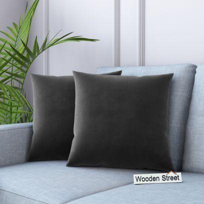 Cupid Velvet Cushion Cover (Graphite Grey)