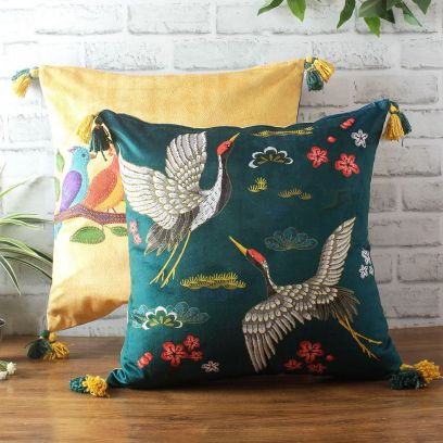 Buy Digital Pricr Velvet Cushion Cover Sets Online at Wooden Street
