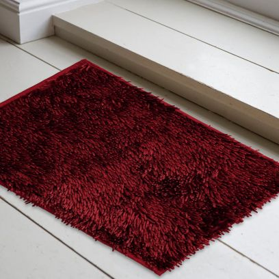 Maroon Solid Anti Skid Doormat (24 x 16)