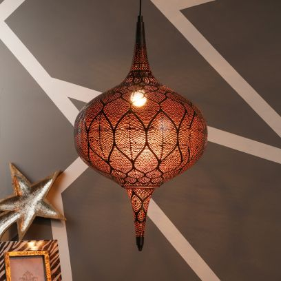 Antique Bronze Mild Steel Single Hanging Light