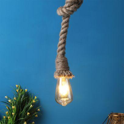 Natural Fibre Rope Hanging Light