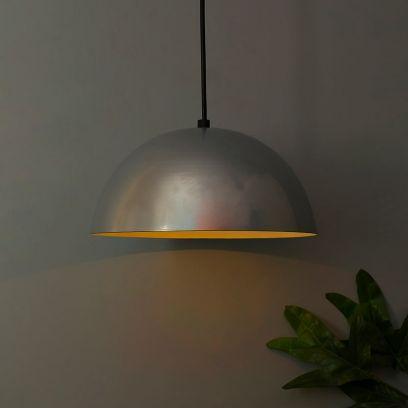 Silver Mettalic 10-inch Hanging Light