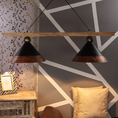 Townshed Copper Metal Cluster Hanging Light