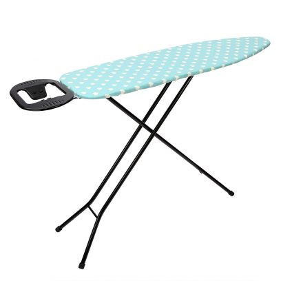 Green with White Hearts Ironing Board Stand