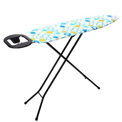 White Circled Ironing Board Stand