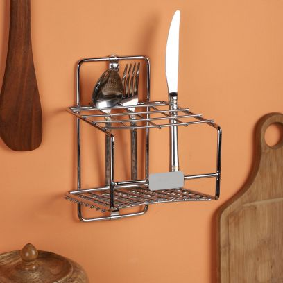 Double Corner Stainless Steel Multi Utility Kitchen Rack