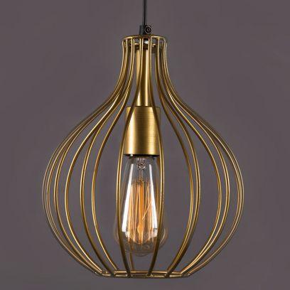 Golden Vintage Filament  Crown Hanging Light