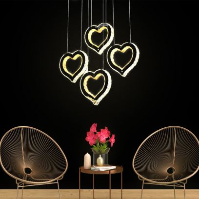 Heart Shape K9 Crystal Chandelier