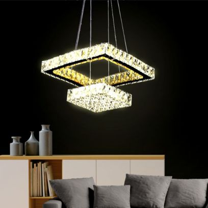 Square Led K9 Crystal Chandelier