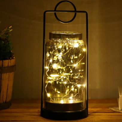 Typographic Wrought Iron Frame with LED Lights