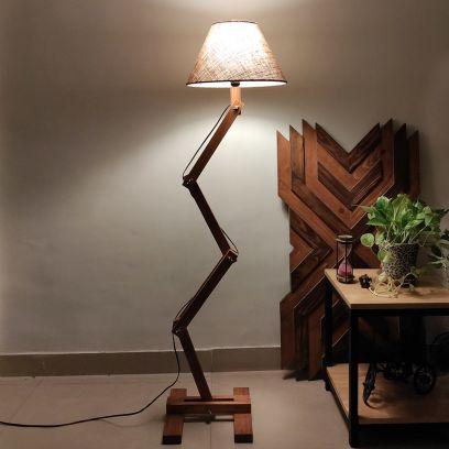 Flex Brown Wooden Floor Lamp