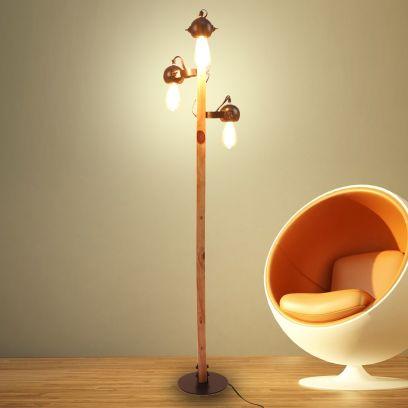 Rey Black Iron Floor Lamp with Black Shade