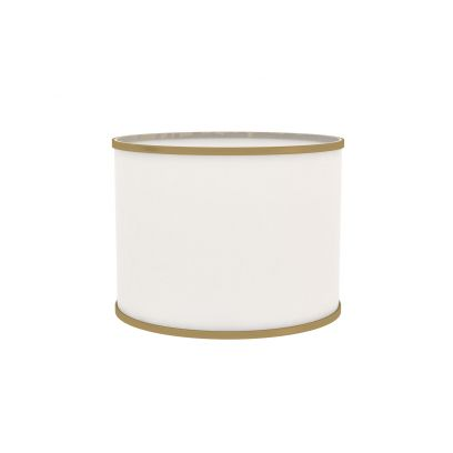 Azure Drum Shape White Cotton Lamp Shade - 13 x 10 inches