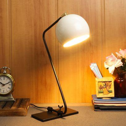 Lense Black Metal Shade Study Lamp