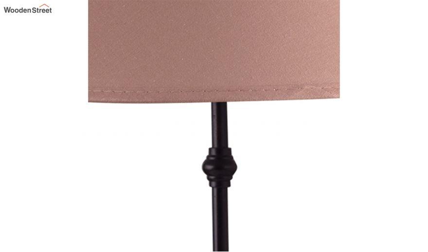 Black Metal Table Lamp With Beige Shade, Metal Desk Lamps Uk