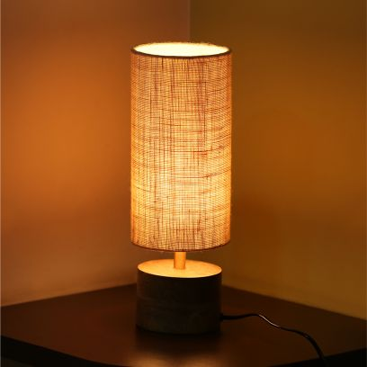 Brown Volta Round Table Lamp