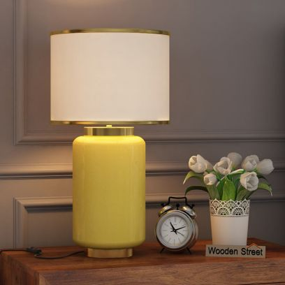 Ceres Metal Yellow Table Lamp
