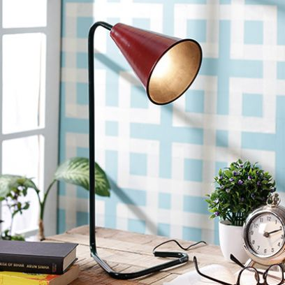 Red Piper Iron Study Lamp