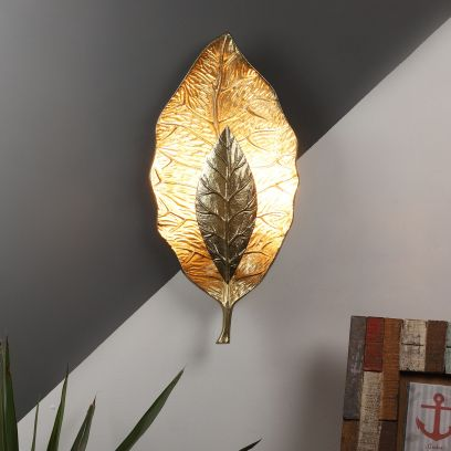 Brass and Aluminum Wall Light