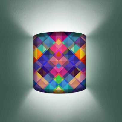 Multicolour Triangle Design Wall Mounted Lamp Light With Brass Holder and Bulb