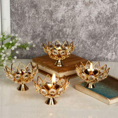 Buddha Idol Blessing Statue Brass Showpiece