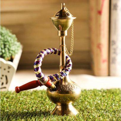 Brass Decorative Hukkah Showpiece