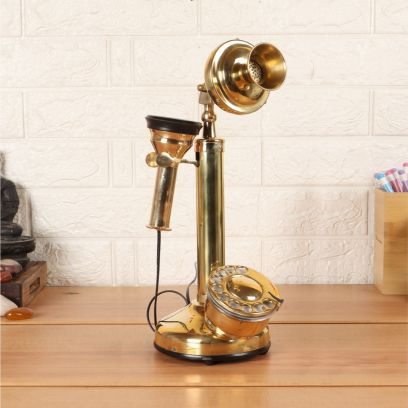 Brass Vintage Candle Style Telephone