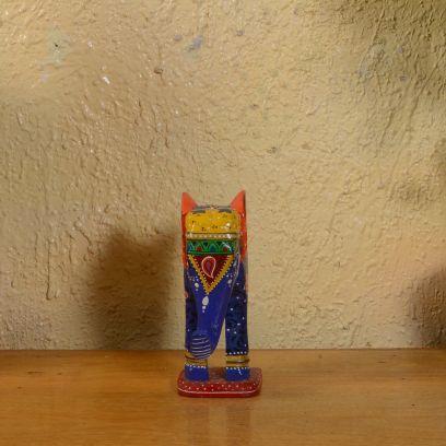 Multicolor Elephant Table Showpeice