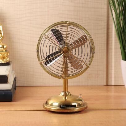 Brass Rings Table Fan Showpiece
