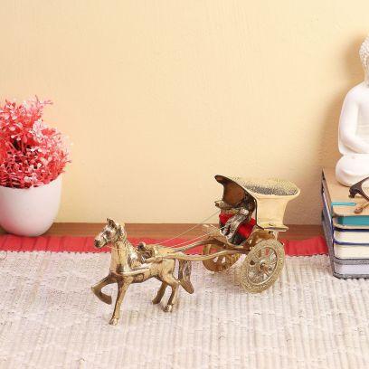 Brass Royal Cart Tanga Showpiece