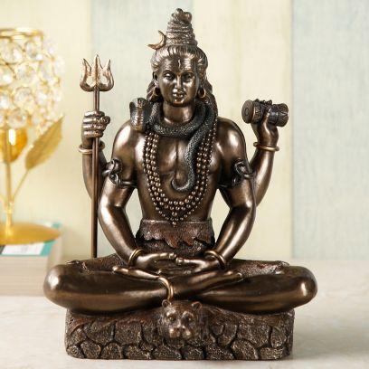 Bronze Colour Lord Shiva Idol Statue