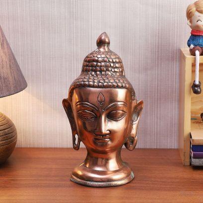 Copper Gun Metal Buddha Head