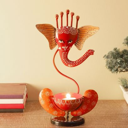 Decorative Metal Coloured Ganesh Showpiece