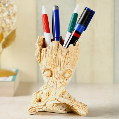 Golden Colour Baby Groot Pen Stand