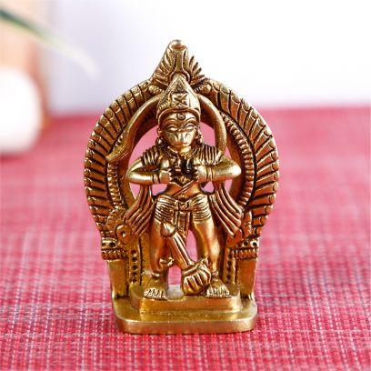 Golden Colour Hanuman Murti