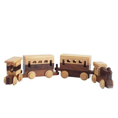 Hand-made Wooden Decorative Train