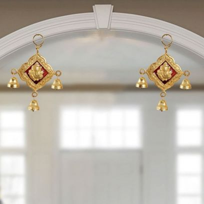 Hanging Pair in Metal with Bells - Handicrafts Paradise