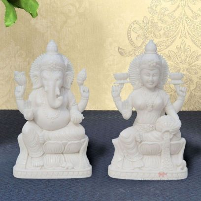 Lakshmi Ganesh Pair in Resin Showpiece - Handicrafts Paradise