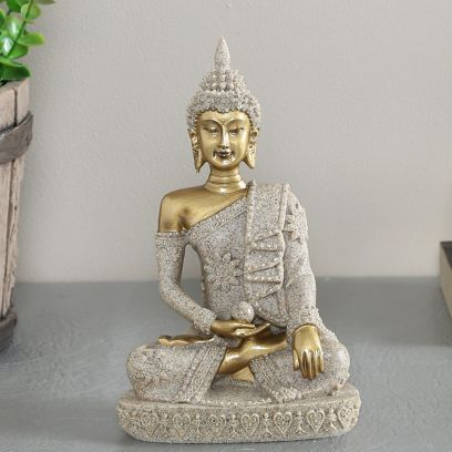 Meditating and Insightful Buddha Statue