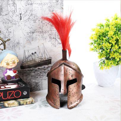 Metal Antique Spartan Helmet Miniature