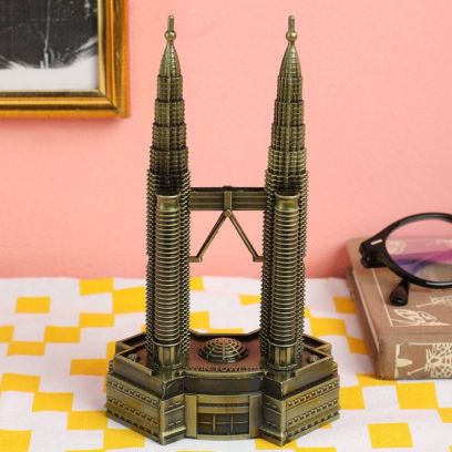 Metallic Petronas 7-inch Twin Tower Miniature