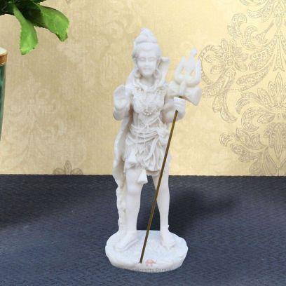 White Standing Shankar in Resin Showpiece - Handicrafts Paradise