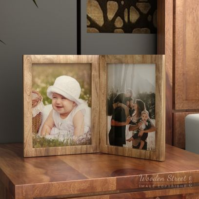 Buy Solid Wood Double Photo Frames Online in India