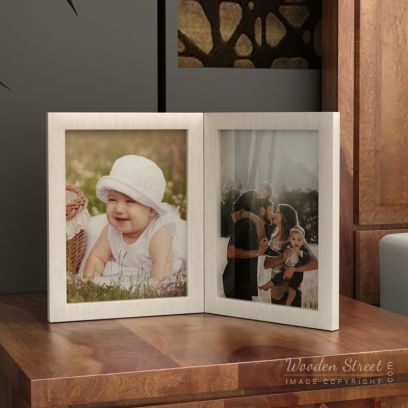 Solid Wood Dual Photo Frames for Sale
