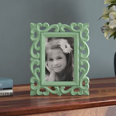 Distress Green Photo Frame
