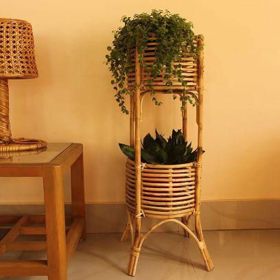 Handmade Premium Natural Cane Flower Pot Stand