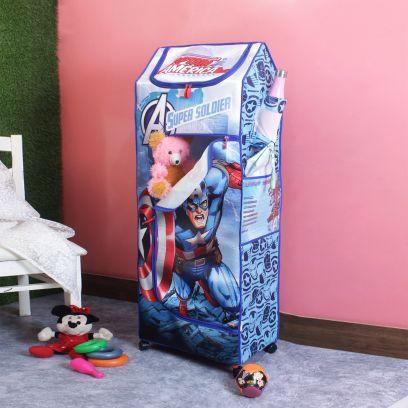 Marvel Captain America Super Soldier Blue Portable Kids Wardrobe
