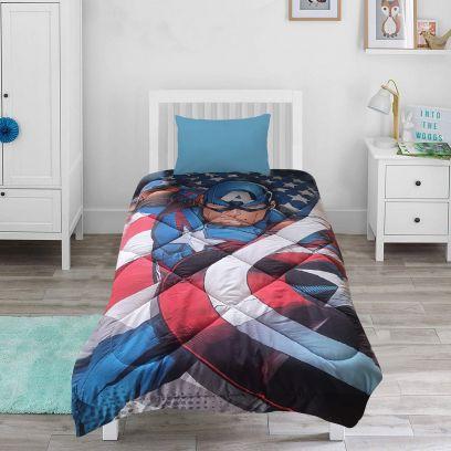 Marvel Avengers Ironman and Captain America Comforter