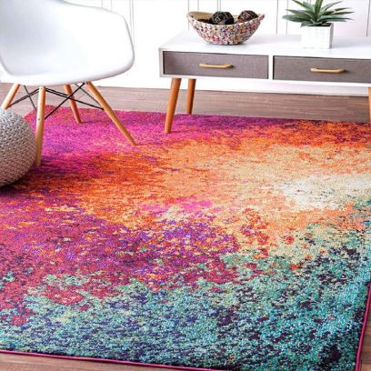 Living Room Carpet in Multicolor